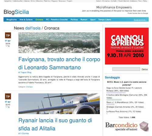 BlogSicilia, il network dei blog siciliani